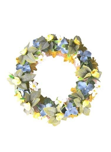 Kibrithane Çiçek Kapı Süsü Yapay Çiçek Aranjman Kc00200753 Renkli